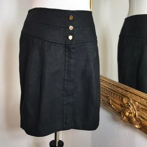 Authentic Tory Burch lined linen skirt w/pockets